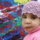 Dio mio El arte que cura: una niña con un tumor en la cara recaudará dinero exponiendo sus obras