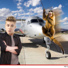 VIDEO Justin Bieber EN su JET privado Monkey Business in Miami Over Private Jet