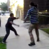 VIDEO Que maldito machetaso! What's Going On Here? 2 Boys Trying To Scrap In Streets Of NY Give Worst Fight
