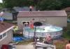 Un video que se hace viral en Internet...un acto de magnífica coordinación desde el techo.
