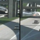 VIDEO Un puente se derrubo miren lo que paso A big rig crash lands after driving off the overpass in Grand Prairie, TX