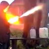 VIDEO Un russo drogado casi se mata miren Drunk Russian Homemade Fireworks Fail