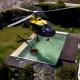 VIDEO Helicotero robando agua de una picina para un indendio Helicopter Steals Pool Water For Fire