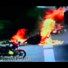 VIDEO HORRIBLE UNA MUJER PRENDIA EN FUEGO :Horrible: Woman Gets Sets On Fire After Truck Hits Her Motorcycle