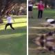 VIDEO QUISO SALTAR PERO FALLO MIREN LO QUE PASO :Girl's Creek Jump Ends Painfully