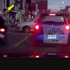 VIDEO CASI MATAN ESTA SENORA CRUSANDO :Scooter Rider Slams Face First Into Car