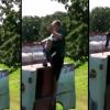 VIDEO que maldito estrallon de una visicleta casi se mata miren Unicycle Stunt Fail