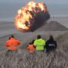 Video Miren esta explocion increible Land Detonation Of A WW2 Sea Mine