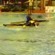 VIDEO competencia termina en una golpisa Kayak Polo Player Knocks Out Opponent