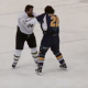 VIDEO miren que pelea mas loca matandoce en juego Crazy End To Canadian Hockey Fight