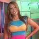 Vídeo - Momento en el cual presentadora ex novia  se come vivo al chuape ante las camaras.
