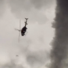 VIDEO Un volcan se traga un helicotero increible Real Or Fake? Helicopter Gets Sucked Into A Tornado And A Bod Is Seen Flying Out!