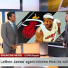 VIDEO Lebron James es agente libre delo miami Heat  Is Now A Free Agent Out His Contract With The Miami Heat!