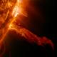 El Sol escupe un 'dragón' de fuego miren esto que candelaso
