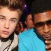 Usher Quillao con justin bieber mira porque
