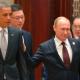 Obama y Putin de russia tienen un breve encuentro durante la cumbre de la APEC en China
