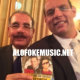 "Presidente ""Danilo Medina"" en figureo con ""CD"" de ""El Alfa"""