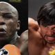 VIDEO Mayweather & Pacquiao Seven cara a cara Face To Face Hotel Meeting!