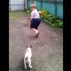VIDEO miren que miedo le tiene al perro Little Dog Revokes Boys Pass