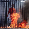 VIDEO Fuerte solo adulto prenden fuego muerte fatal ISIS burning to death of captured Jordanian pilot