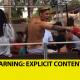 Justin Bieber Celebrando la pelea burlao miren 'F*** Pacquiao!!!'