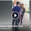 Video le saca un cuchillo casi muere Guy pulls knife on girl at high school