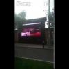 VIDEO Movie Porno en el medio dela calle Porn movie displayed on big screen in public