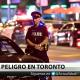 PRIMERAS IMÁGENES: El momento en que el tirador de Toronto abre fuego contra una tienda