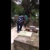 Video Hombre saca cadaver del cementerio mira de que manera