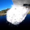 VIDEO: Un avión 'siembra' peces vivos en los lagos de alta montaña desde el aire
